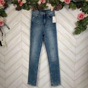 New slim high rise origin stretch denim jeans
